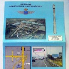 Militaria: FOLLETO MUSEO AERONÁUTICA Y ASTRONAUTA DE MADRID 2012. Lote 156128354