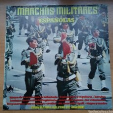 Militaria: DISCO VINILO LP MARCHAS MILITARES ESPAÑOLAS GRAN BANDA MILITAR DE MADRID AÑO 1978 ED DIAL DISCOS. Lote 156541049