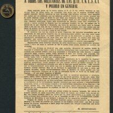 Militaria: GUERRA CIVIL, FOLLETO, JUVENTUDES LIBERTARIAS DE BARCELONA, JJ.LL, CNT, FAI. Lote 156655714