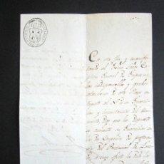 Militaria: AÑO 1833. SANTOÑA. CANTABRIA. GUERRA CARLISTA. CAPITÁN GENERAL DE GUIPUZCOA. COMISARIO DE GUERRA. . Lote 156832742