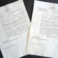 Militaria: AÑO 1834. ASTURIAS. OVIEDO. DOS DOCUMENTOS.PAGARÉ Y RESGUARDO DE CABALLO POR S.M. GUERRA CARLISTA. . Lote 156833254