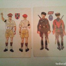 Militaria - Dos Postales de Uniformes II Guerra Mundial - 156901678