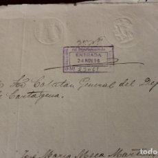 Militaria: MANUSCRITO SOLICITUD AL CAPITAN GENERAL DE CARTAGENA, 1896, DE LORCA. Lote 157182622