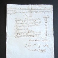 Militaria: AÑO 1834. ASTURIAS. OVIEDO. REQUISACIÓN DE CABALLO. GASTOS EN ÚTILES Y DEMÁS. . Lote 157203306