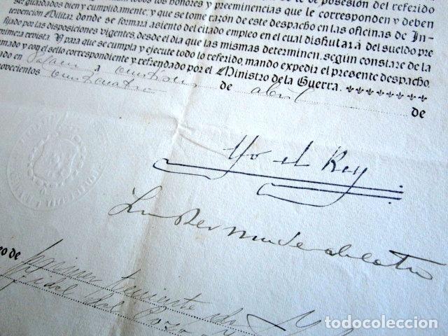 Militaria: AÑO 1924. TÍTULO DE TENIENTE FIRMADO POR EL REY ALFONSO XIII. YO EL REY. - Foto 2 - 157353502