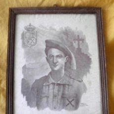 Militaria: ANTIGUO CARTEL CARLISTA - ANTONIO MOLLE LAZO 1915-1936 - REQUETES - EXCEPCIONAL.. Lote 158795714