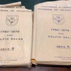 Militaria: CONJUNTO POSTALES (60) UNIFORMES ALUMNOS ACADEMIA DE INFANTERÍA 1750 - 1979. Lote 158865185