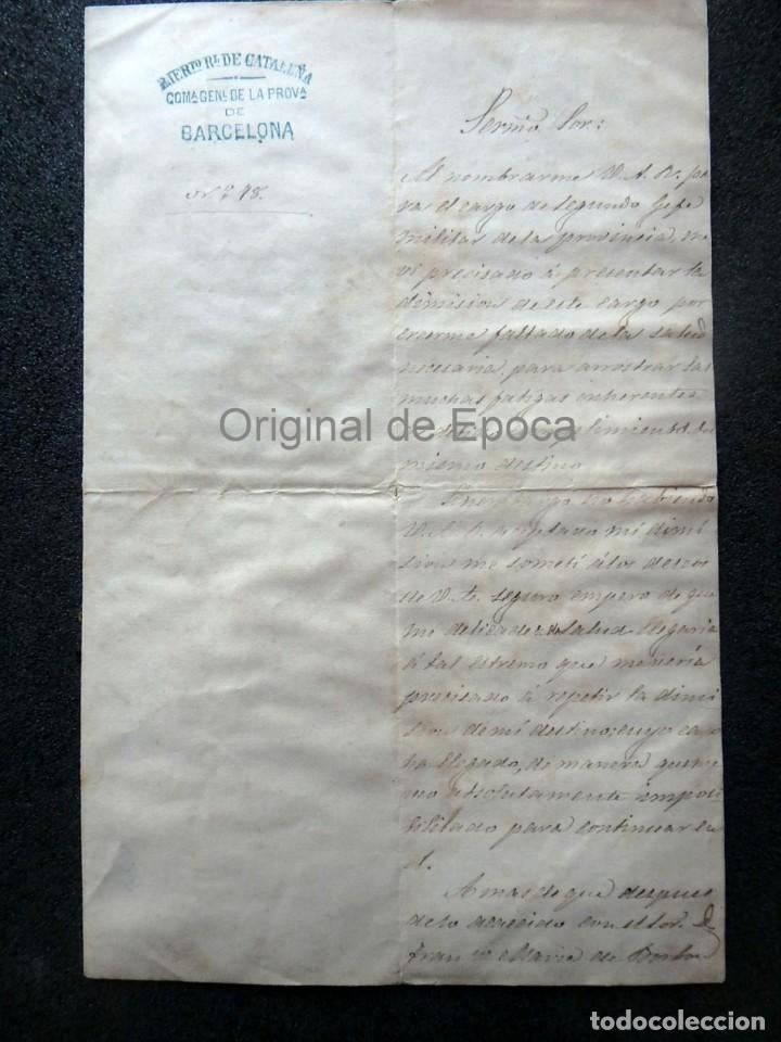 (JX-190427)DOCUMENTO 3ª GUERRA CARLISTA,ENVIADA AL INFANTE JEFE DE CATALUÑA,FECHADA EN RIPOLL 1873 (Militar - Propaganda y Documentos)