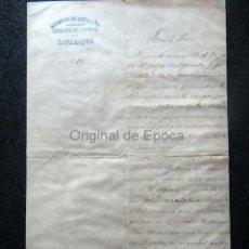 Militaria: (JX-190427)DOCUMENTO 3ª GUERRA CARLISTA,ENVIADA AL INFANTE JEFE DE CATALUÑA,FECHADA EN RIPOLL 1873. Lote 158882442