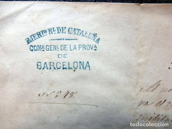 Militaria: (JX-190427)Documento 3ª Guerra Carlista,enviada al Infante Jefe de Cataluña,fechada en Ripoll 1873 - Foto 2 - 158882442