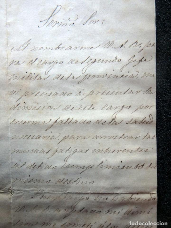 Militaria: (JX-190427)Documento 3ª Guerra Carlista,enviada al Infante Jefe de Cataluña,fechada en Ripoll 1873 - Foto 4 - 158882442