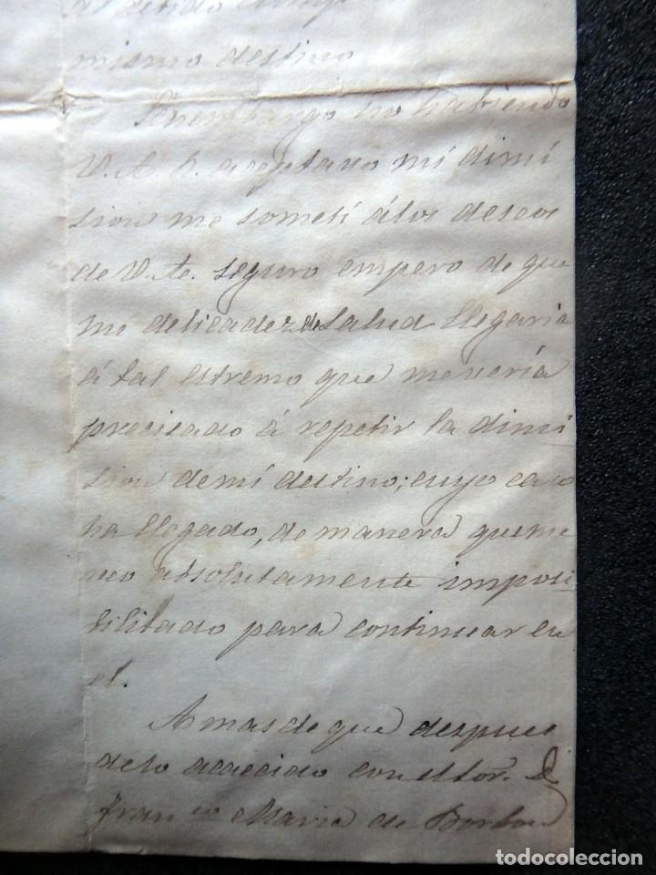Militaria: (JX-190427)Documento 3ª Guerra Carlista,enviada al Infante Jefe de Cataluña,fechada en Ripoll 1873 - Foto 5 - 158882442