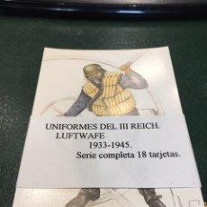 Militaria: CONJUNTO POSTALES (18) UNIFORMES DEL III REICH. LUFTWATE. 1933-1945. Lote 158916557