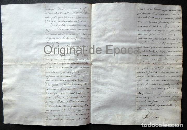 Militaria: (JX-190435)Documento 3ª Guerra Carlista de D. francisco Sola a D.Martin Miret.Ejercito Real Cataluña - Foto 4 - 158936546