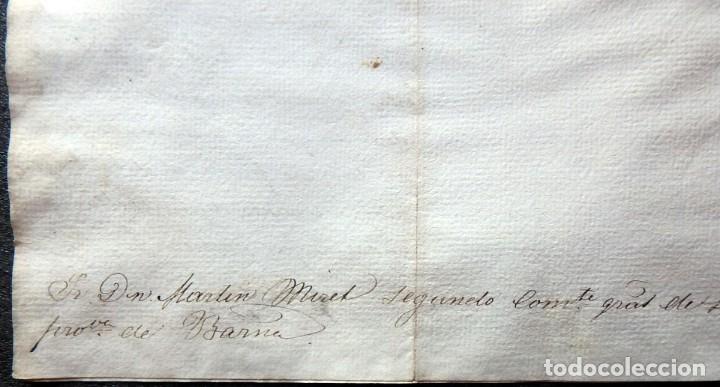 Militaria: (JX-190435)Documento 3ª Guerra Carlista de D. francisco Sola a D.Martin Miret.Ejercito Real Cataluña - Foto 9 - 158936546