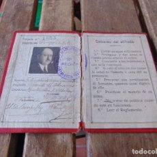 Militaria: CARNET GRAN SOMATEN ESPAÑOL 2ª REGION SECCION DE SEVILLA CARTERA DE IDENTIDAD. Lote 159231010