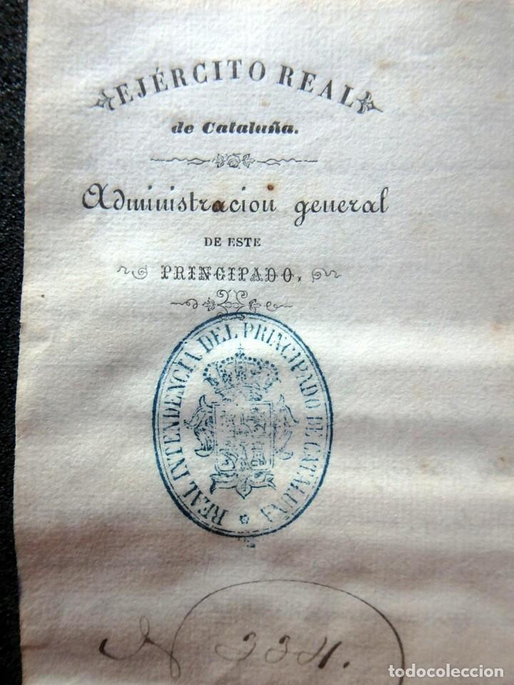 Militaria: (JX-190440)Documento 3ª Guerra Carlista de D. Francisco Sola a D.Martin Miret.Ejercito Real Cataluña - Foto 2 - 159467622