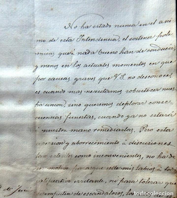 Militaria: (JX-190440)Documento 3ª Guerra Carlista de D. Francisco Sola a D.Martin Miret.Ejercito Real Cataluña - Foto 3 - 159467622