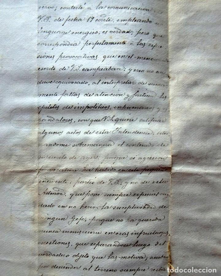Militaria: (JX-190440)Documento 3ª Guerra Carlista de D. Francisco Sola a D.Martin Miret.Ejercito Real Cataluña - Foto 6 - 159467622