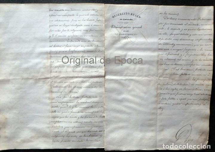 Militaria: (JX-190440)Documento 3ª Guerra Carlista de D. Francisco Sola a D.Martin Miret.Ejercito Real Cataluña - Foto 8 - 159467622