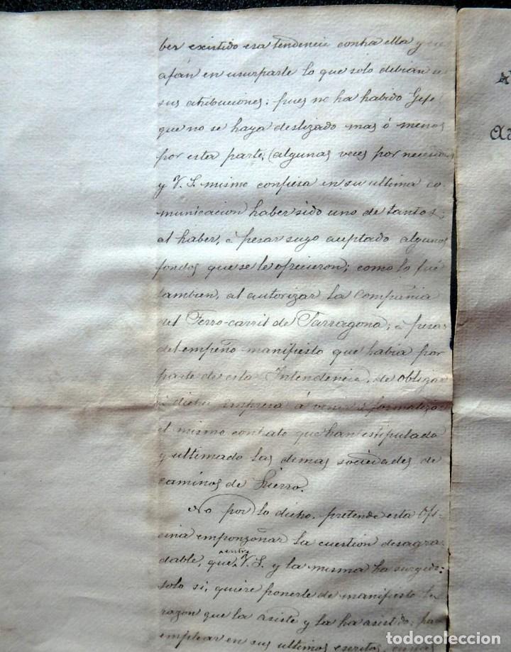 Militaria: (JX-190440)Documento 3ª Guerra Carlista de D. Francisco Sola a D.Martin Miret.Ejercito Real Cataluña - Foto 9 - 159467622