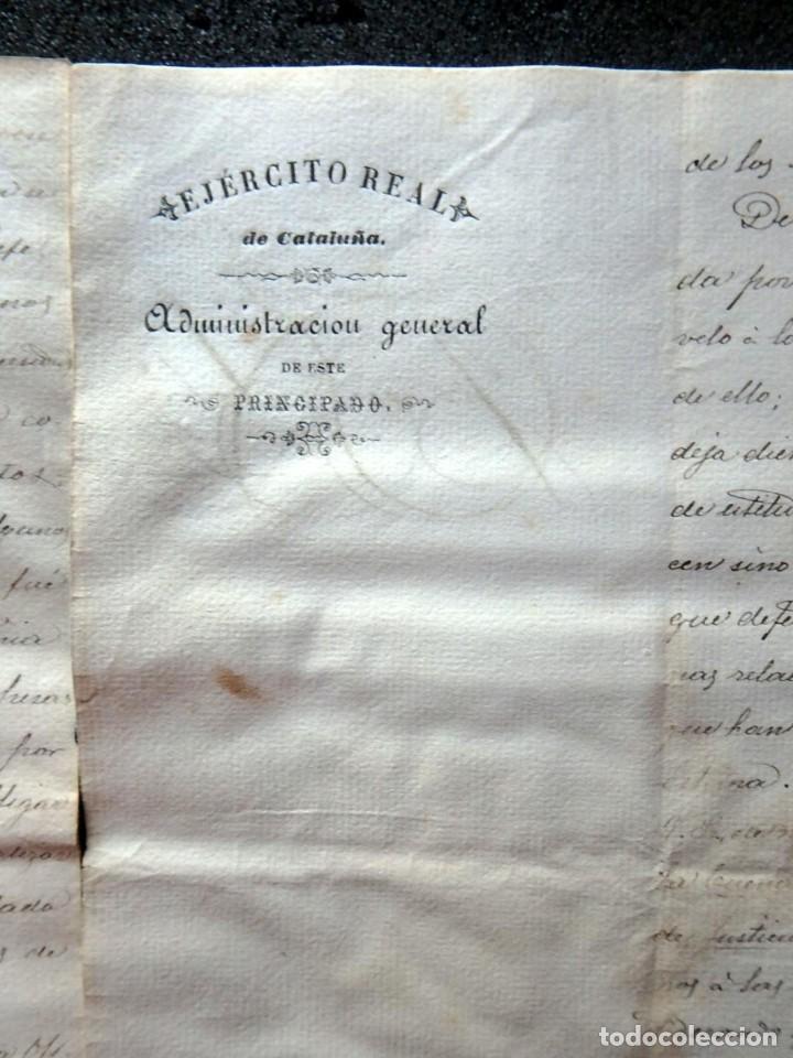 Militaria: (JX-190440)Documento 3ª Guerra Carlista de D. Francisco Sola a D.Martin Miret.Ejercito Real Cataluña - Foto 10 - 159467622