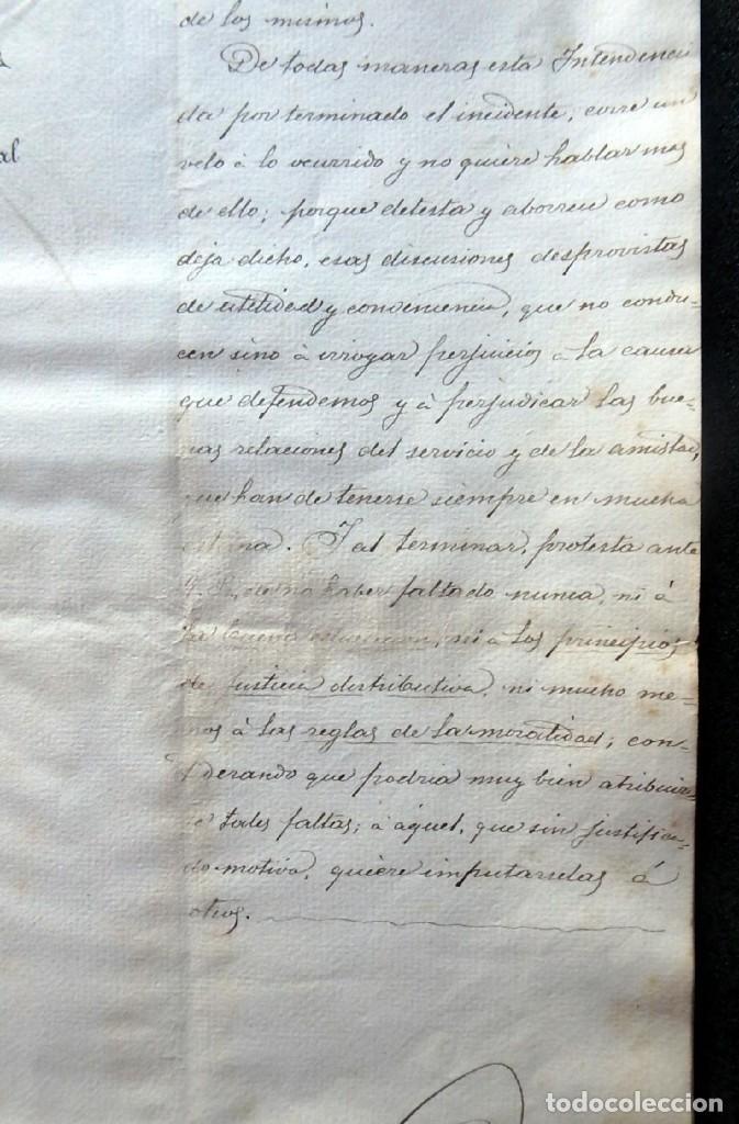 Militaria: (JX-190440)Documento 3ª Guerra Carlista de D. Francisco Sola a D.Martin Miret.Ejercito Real Cataluña - Foto 11 - 159467622