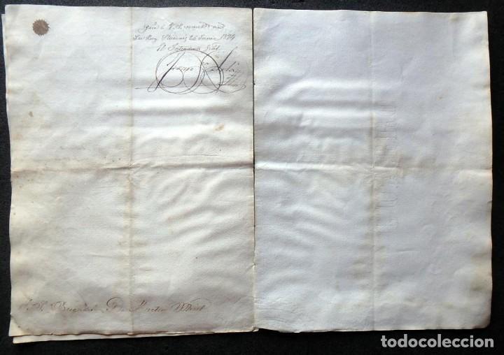 Militaria: (JX-190440)Documento 3ª Guerra Carlista de D. Francisco Sola a D.Martin Miret.Ejercito Real Cataluña - Foto 13 - 159467622