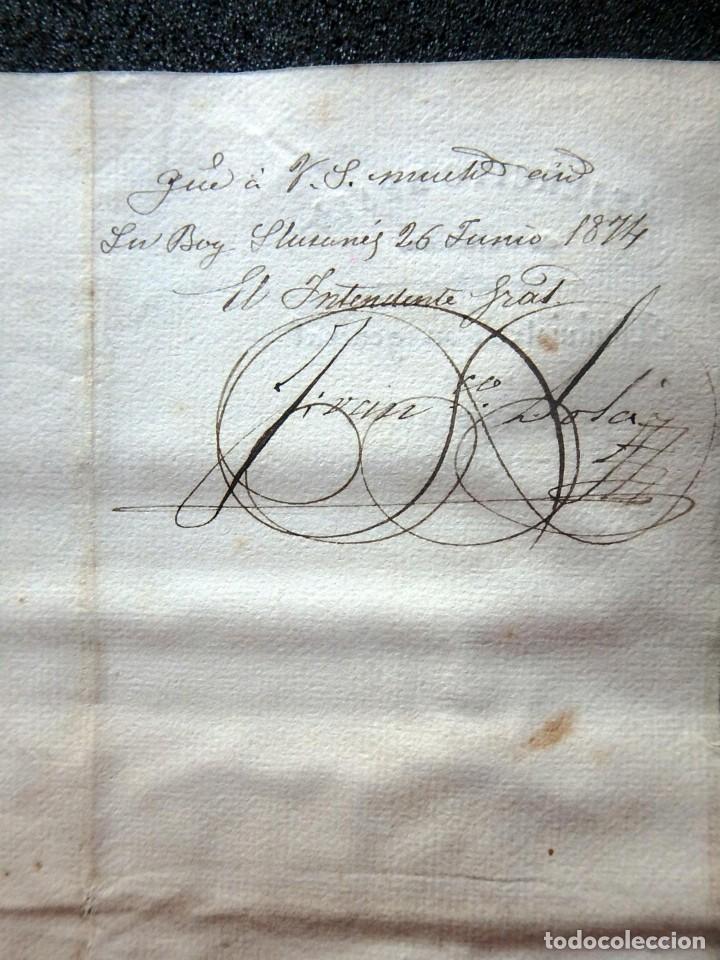 Militaria: (JX-190440)Documento 3ª Guerra Carlista de D. Francisco Sola a D.Martin Miret.Ejercito Real Cataluña - Foto 14 - 159467622