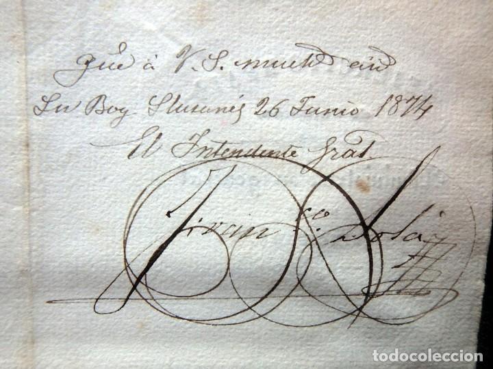 Militaria: (JX-190440)Documento 3ª Guerra Carlista de D. Francisco Sola a D.Martin Miret.Ejercito Real Cataluña - Foto 15 - 159467622