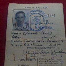 Militaria - CARNET FRENTE JUVENTUDES 1955. SELLOS DORSO - 159577790