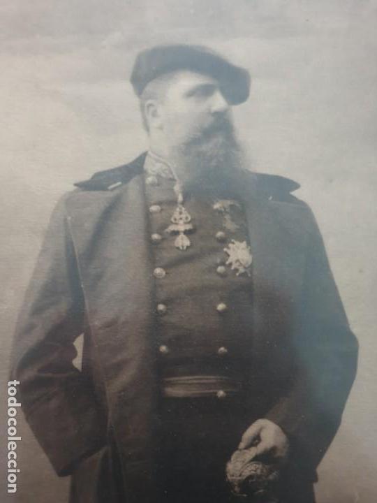 Militaria: Lamina fotografica del pretendiente carlista carlos VII - Foto 2 - 160453210