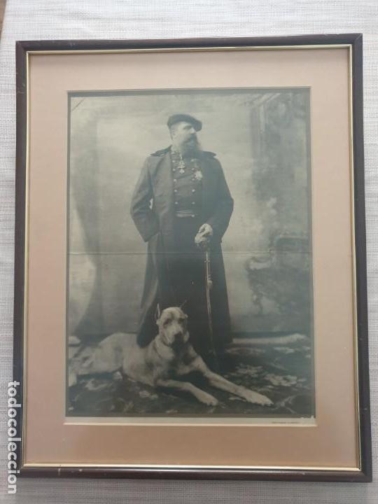 LAMINA FOTOGRAFICA DEL PRETENDIENTE CARLISTA CARLOS VII (Militar - Propaganda y Documentos)