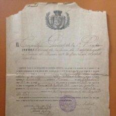 Militaria: LICENCIA MILITAR DE UN SOLDADO DE TAMARITE (HUESCA) - 1909. Lote 160474734