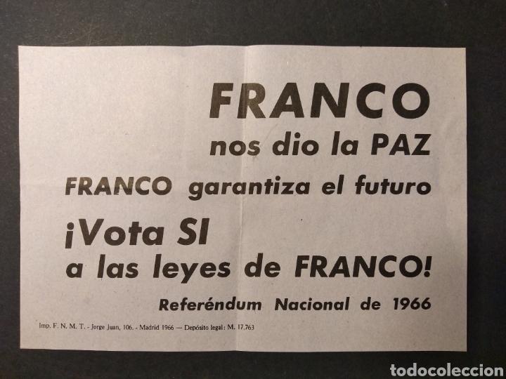 MATERIAL REFERÉNDUM NACIONAL 1966 (Militar - Propaganda y Documentos)