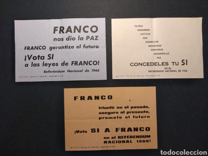 Militaria: Material referéndum nacional 1966 - Foto 2 - 160532726