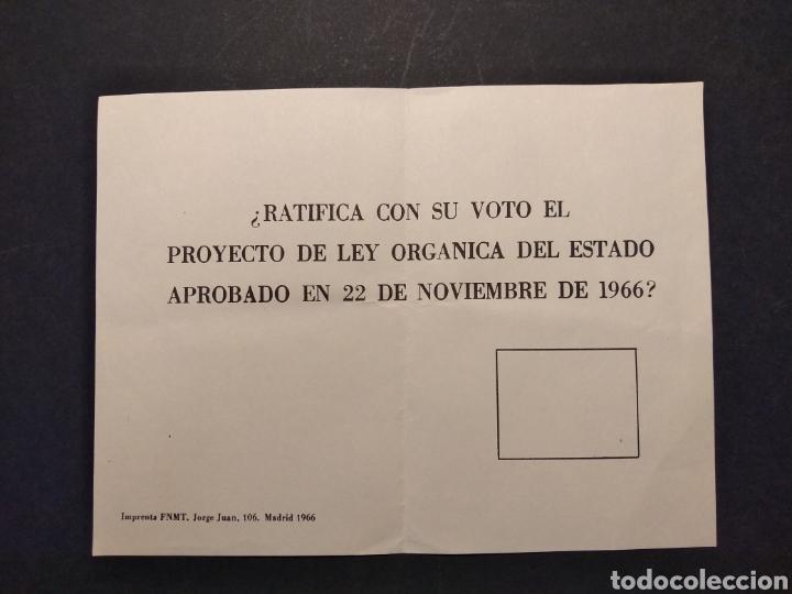 Militaria: Material referéndum nacional 1966 - Foto 3 - 160532726
