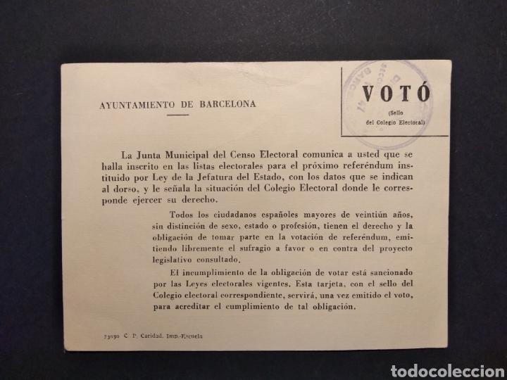 Militaria: Material referéndum nacional 1966 - Foto 4 - 160532726