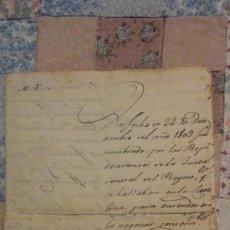 Militaria - CARTA PEDRO JOSE DE GAMEZ.JEFE ESTADO MAYOR GUARDIAS CORPS.GUERRA INDEPENDENCIA.CADIZ 1811 - 160541918