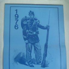 Militaria: PRECIOSO CALENDARIO PARED DE 1976 CON LAMINAS MILITARES DE CABALLERIA, HUSARES. OPTICA VELO, SEVILLA. Lote 160678622