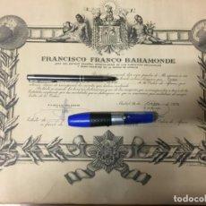 Militaria: DIPLONA DE OFICIAL DE LA ORDEN DE AFRICA POR FRANCISCO FRANCO. Lote 161273650