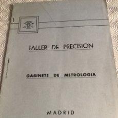 Militaria: LIBRO DE TALLER DE PRECISIÓN DEL MINISTERIO DE DEFENSA. Lote 161647237