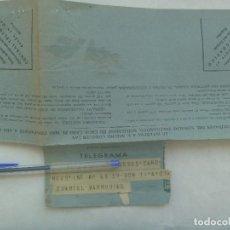Militaria: TELEGRAMA RGTO. INFANTERIA Nº 45, CUARTEL MARRUBIAL COMUNICANDO ENFERMEDAD MADRE SOLDADO ISLA CRISTI. Lote 161721930