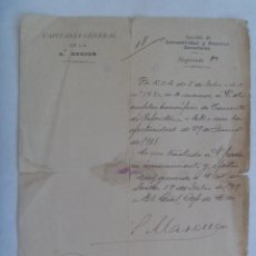 Militaria: CAPITANIA GENERAL 2ª REGION: NOMBRAMIENTO TENIENTE INFANTERIA HONORIFICO POR GUERRA, 1919. Lote 161910642