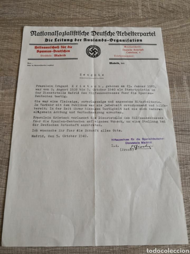 CONJUNTO DE DOCUMENTACIÓN Y FOTOGRAFÍAS ALEMANIA (Militar - Propaganda y Documentos)