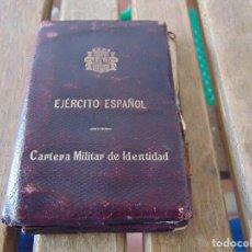 Militaria: EJERCITO ESPAÑOL CARNET CARTERA MILITAR DE IDENTIDAD REPUBLICA EJERCITO REPUBLICANO COMANDANTE 1937. Lote 162698598