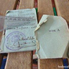 Militaria: EJERCITO ESPAÑOL MINISTERIO GUERRA TALONARIO VALES REPUBLICA EJERCITO REPUBLICANO COMANDANTE 1937. Lote 162700226