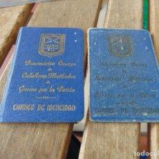 Militaria: BENEMERITO CUERPO CABALLEROS MUTILADOS DE GUERRA POR LA PATRIA CARNET DE IDENTIDAD. Lote 162700830