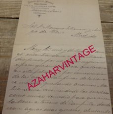Militaria: CAZORLA, 1899,CARTA DE UN GUARDIA CIVIL A UN DIPUTADO A CORTES PIDIENDO RECOMENDACION TRASLADO. Lote 163131858
