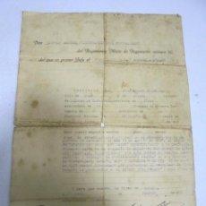 Militaria: REGIMIENTO MIXTO DE INGENIEROS Nº 10. MELILLA. 1940. CORONEL MAYOR ANTONIO RODRIGUEZ TENIENTE. Lote 163341354